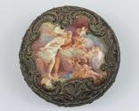 Серебряная шкатулка в эмалях. Франция, XIX век.