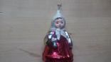 Ёлочная игрушка девочка с букетом СССР