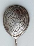 Срібна ложечка з узором 84 проба 1881 р