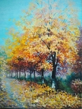 """Картина 30*40 """"Осень"""" Цибина Е. холст/масло 2014"""