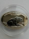 """500 тугриков """"Снежный Леопард"""" серебро 925+ниобиум"""
