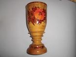 Ваза деревянная с росписью, фото №2