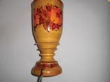 Ваза деревянная с росписью, фото №4