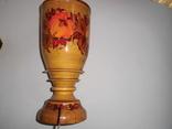 Ваза деревянная с росписью, фото №5
