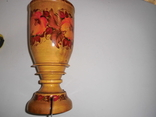 Ваза деревянная с росписью, фото №6