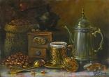 """Смак кави"" полотно, олія 25х35 см., Новiков Ю."