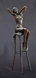 Фигурка Статуэтка Дама на стуле Бронза Европа