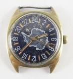 Часы Ракета Арктическая экспедиция, 24 часа. Позолота AU.