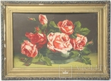 Автор неизвестный. Розы. Картон, смешанная техника. Размеры 32х49 см.