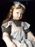 Старая кукла из папье-маше. 40 см. Клеймо.