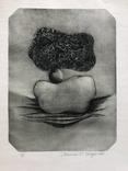 """Прибалтийский художник, графика """"Камни"""", Langer 1980г."""