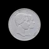5 Франков 1853 Свадьба герцога и герцогини Брабант, Бельгия