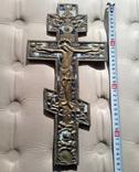 Бронзовый крест с эмалью.