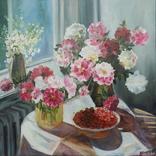 Пикало Екатерина, Цветы и ягоды, х.м., 50х50