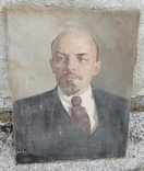 Портрет Ленина, холст, масло