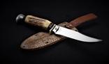 Нож Solingen Garantie в кожаном чехле W.Germany