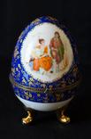 Фарфоровое Пасхальное яйцо с позолотой, без сколов, клеймо Staffordshire Knot, Англия
