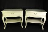 Прикроватные столики с выдвижными ящиками. Пара. Винтаж. Европа. (0792)