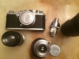 Фотоаппарат LEICA D.R.P. военный номерной с комплектом объективов в отличном состоянии, фото №2