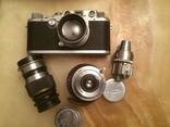 Фотоаппарат LEICA D.R.P. военный номерной с комплектом объективов в отличном состоянии, фото №4