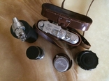 Фотоаппарат LEICA D.R.P. военный номерной с комплектом объективов в отличном состоянии, фото №12