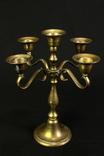 Латунный подсвечник. 5 свечей. Винтаж. Европа. (0812)