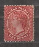 Остров Теркс 1883-89 перфорация 12х12