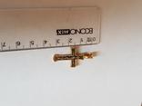 Крестик серебро 925 проба. Позолота., фото №2