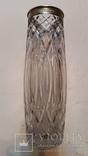 Ваза, кришталь, срібло 875, Н27 см