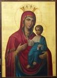 Икона Иверской Божией Матери на золоте, русский Афон photo 1