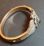 Золотой браслет 56 пробы с бриллиантами photo 16
