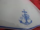 Крышка от супницы с монограмой., фото №3
