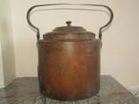 Большой чайник медь 8.0 л. клейма под реставрацию.