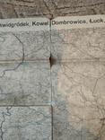1915 г Карта Немецкого генштаба на польском языке,115х105см, фото №3