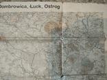 1915 г Карта Немецкого генштаба на польском языке,115х105см, фото №5