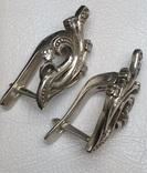Серьги, цирконы, фото №8
