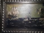 Старая Картина на морской мотив ( Холст, масло ) photo 3