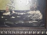 Старая Картина на морской мотив ( Холст, масло ) photo 4