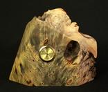 Настольные часы в деревянной подставке. Кварц. (0902) photo 1