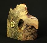 Настольные часы в деревянной подставке. Кварц. (0902) photo 2