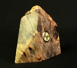 Настольные часы в деревянной подставке. Кварц. (0902) photo 5