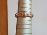Колечко Украина серебро 925 проба. Позолота. Размер 18., фото №5