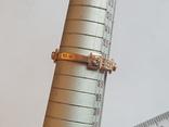 Колечко Украина серебро 925 проба. Позолота. Размер 18., фото №6