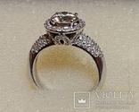 Золотое кольцо с бриллиантом 1.10 ct photo 2