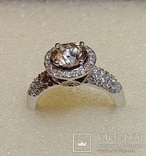 Золотое кольцо с бриллиантом 1.10 ct photo 3