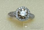 Золотое кольцо с бриллиантом 1.10 ct photo 5