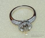 Золотое кольцо с бриллиантом 1.10 ct photo 6