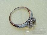 Золотое кольцо с бриллиантом 1.10 ct photo 1