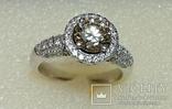 Золотое кольцо с бриллиантом 1.10 ct photo 7