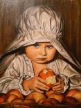 """""""детство"""" масло, холст на картоне 40*40см, год 2011, автор Янишевская Ю.В."""